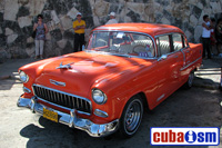 cuba autos .org - Chevrolet, 1955, Bel Air 4 door Sport Sedan, Havana