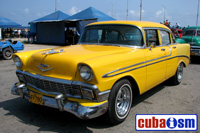 cuba autos .org - Chevrolet, 1956, Bel Air  4 door Sport Sedan, Havana